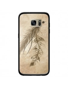 Coque Bohemian Feather Plume Attrape Reves pour Samsung Galaxy S7 Edge - LouJah