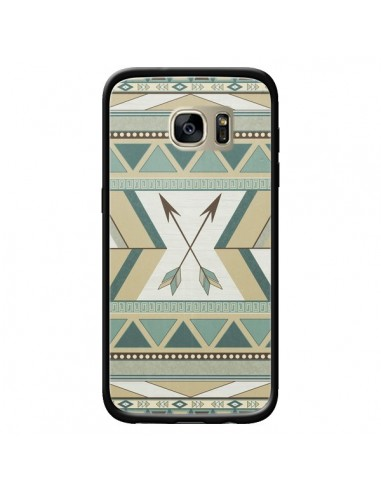Coque Aztec Pattern Arrows Fleche Azteque Tribal pour Samsung Galaxy S7 Edge - LouJah