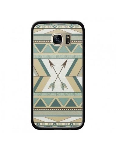 Coque Aztec Pattern Arrows Fleche Azteque Tribal pour Samsung Galaxy S7 Edge - LouJah
