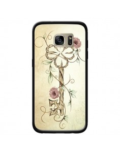 Coque Key Lucky Clef Flower pour Samsung Galaxy S7 Edge - LouJah