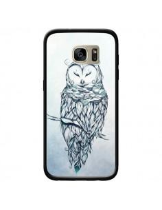 Coque Snow Owl Chouette Hibou Neige pour Samsung Galaxy S7 Edge - LouJah