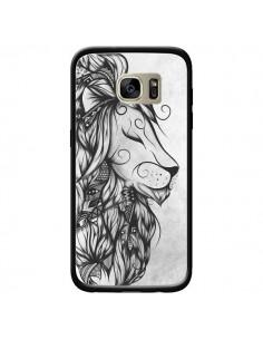 Coque Poetic Lion Noir Blanc pour Samsung Galaxy S7 Edge - LouJah