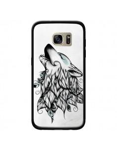 Coque The Wolf Loup Noir pour Samsung Galaxy S7 Edge - LouJah