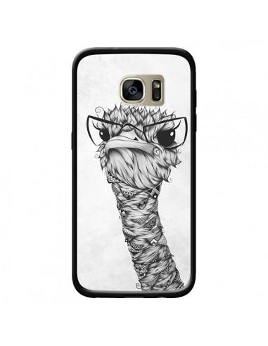 Coque Ostrich Autruche Noir et Blanc...
