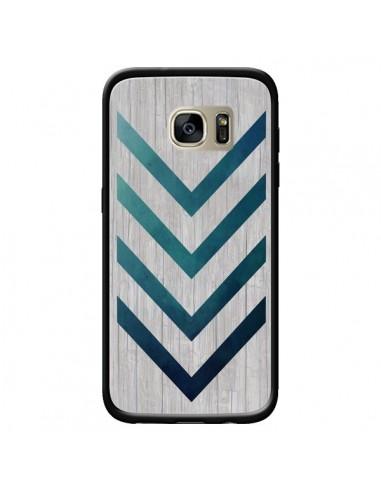 Coque Blue Arrow Wood Fleche Bois pour Samsung Galaxy S7 Edge - LouJah