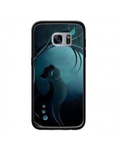 Coque Chat Clair de Lune Moonlight pour Samsung Galaxy S7 - LouJah