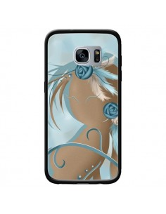 Coque Femme Plume Zoey Woman Feather pour Samsung Galaxy S7 - LouJah