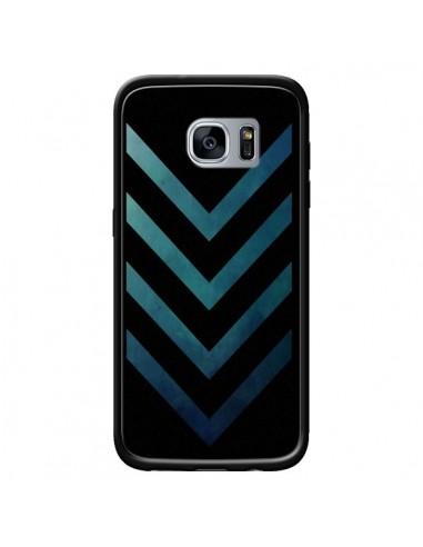 Coque Blue Black Arrow Fleche pour Samsung Galaxy S7 - LouJah