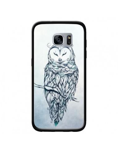 Coque Snow Owl Chouette Hibou Neige pour Samsung Galaxy S7 - LouJah