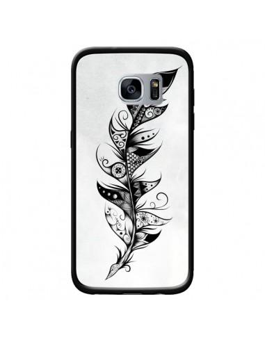 Coque Feather Plume Noir et Blanc pour Samsung Galaxy S7 - LouJah
