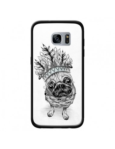 Coque Indian Dog Chien Indien Chef Couronne pour Samsung Galaxy S7 - LouJah