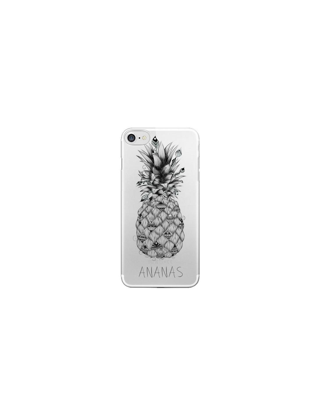 coque iphone 7 8 se 2020 ananas fruit transparente loujah