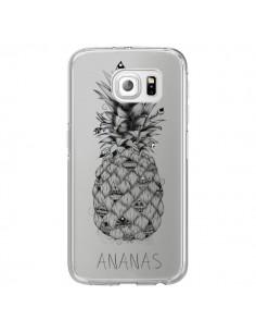 Coque Ananas Fruit Transparente pour Samsung Galaxy S6 Edge - LouJah