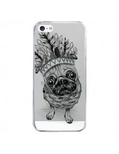 Coque Chien Roi Bulldog Indien Transparente pour iPhone 5/5S et SE - LouJah