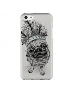 Coque iPhone 5C Chien Roi Bulldog Indien Transparente - LouJah