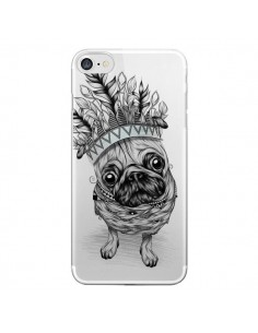 Coque Chien Roi Bulldog Indien Transparente pour iPhone 7 - LouJah