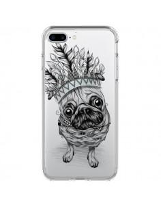 Coque Chien Roi Bulldog Indien Transparente pour iPhone 7 Plus - LouJah
