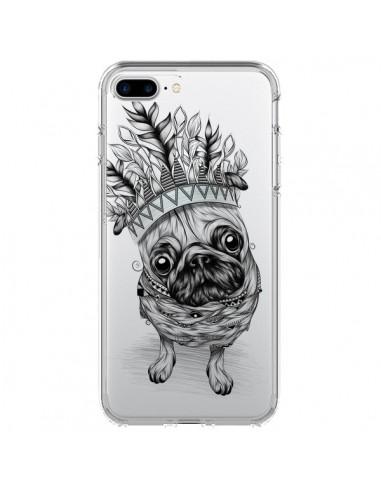 Coque Chien Roi Bulldog Indien Transparente pour iPhone 7 Plus et 8 Plus - LouJah