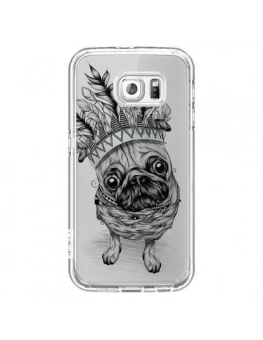 Coque Chien Roi Bulldog Indien Transparente pour Samsung Galaxy S6 - LouJah