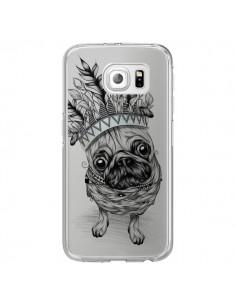 Coque Chien Roi Bulldog Indien Transparente pour Samsung Galaxy S6 Edge - LouJah