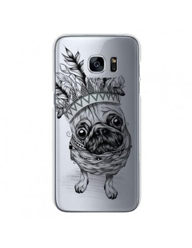 Coque Chien Roi Bulldog Indien Transparente pour Samsung Galaxy S7 - LouJah
