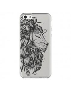 Coque iPhone 5C Lion Poétique Transparente - LouJah