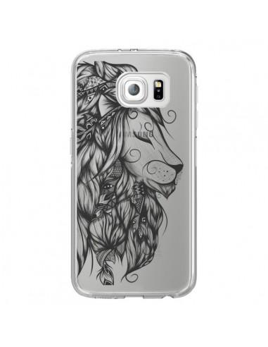 Coque Lion Poétique Transparente pour...