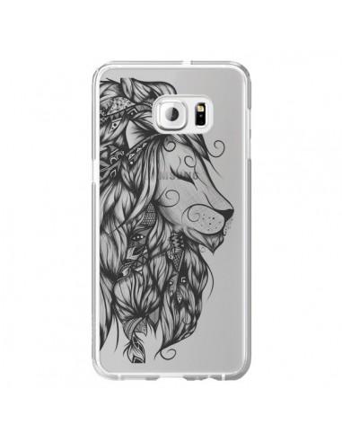 Coque Lion Poétique Transparente pour Samsung Galaxy S6 Edge Plus - LouJah