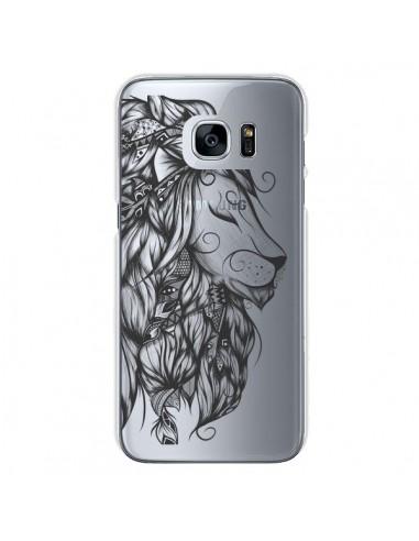 Coque Lion Poétique Transparente pour Samsung Galaxy S7 - LouJah