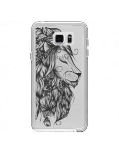 Coque Lion Poétique Transparente pour Samsung Galaxy Note 5 - LouJah