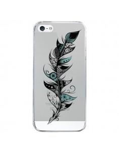 Coque Plume Poétique Transparente pour iPhone 5/5S et SE - LouJah