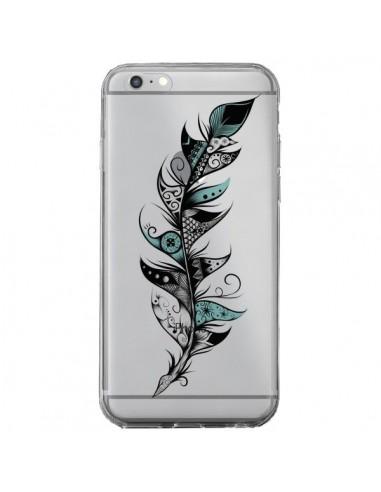 Coque iPhone 6 Plus et 6S Plus Plume Poétique Transparente - LouJah