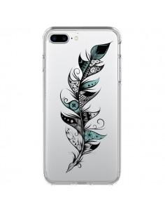 Coque Plume Poétique Transparente pour iPhone 7 Plus - LouJah