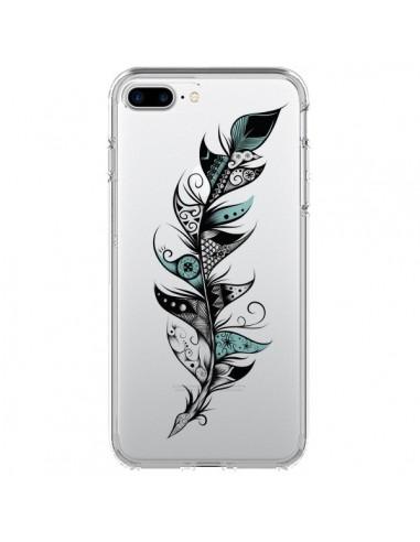 Coque iPhone 7 Plus et 8 Plus Plume Poétique Transparente - LouJah