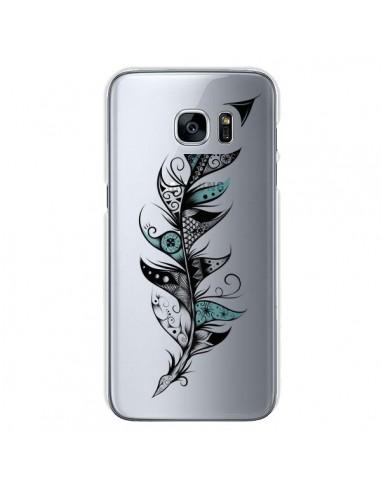 Coque Plume Poétique Transparente pour Samsung Galaxy S7 - LouJah