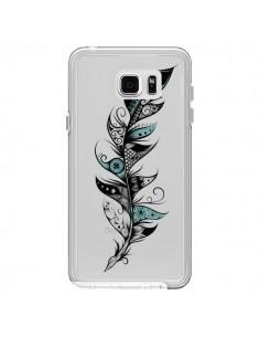 Coque Plume Poétique Transparente pour Samsung Galaxy Note 5 - LouJah