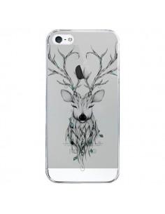 Coque Cerf Poétique Transparente pour iPhone 5/5S et SE - LouJah