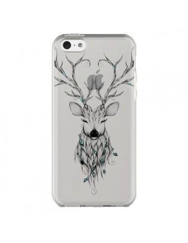 Coque iPhone 5C Cerf Poétique Transparente - LouJah