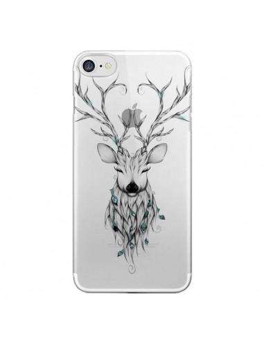 Coque iPhone 7 et 8 Cerf Poétique Transparente - LouJah