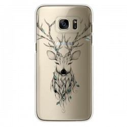 Coque Cerf Poétique Transparente pour Samsung Galaxy S7 Edge - LouJah