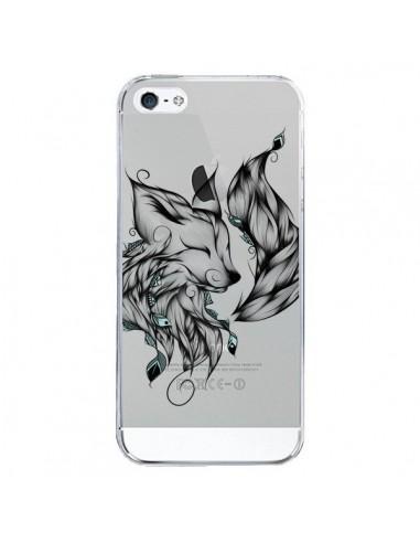 Coque iPhone 5/5S et SE Renard Transparente - LouJah