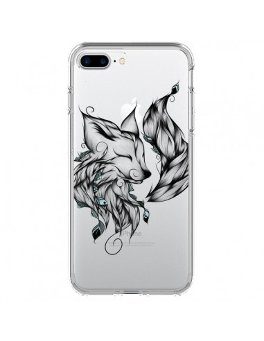 Coque iPhone 7 Plus et 8 Plus Renard Transparente - LouJah