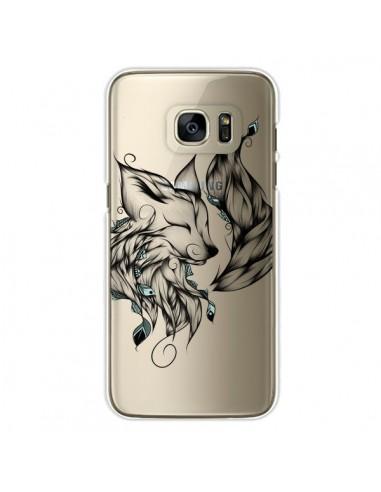 Coque Renard Transparente pour Samsung Galaxy S7 Edge - LouJah