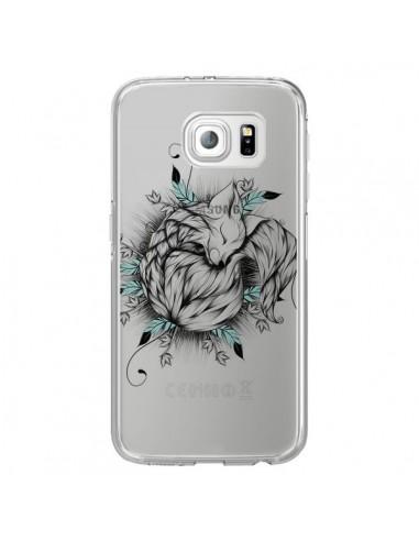 Coque Petit Renard Renardeau Transparente pour Samsung Galaxy S6 Edge - LouJah