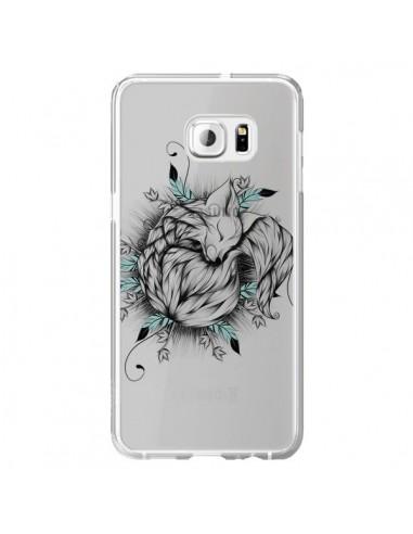 Coque Petit Renard Renardeau Transparente pour Samsung Galaxy S6 Edge Plus - LouJah