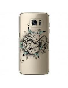 Coque Petit Renard Renardeau Transparente pour Samsung Galaxy S7 Edge - LouJah