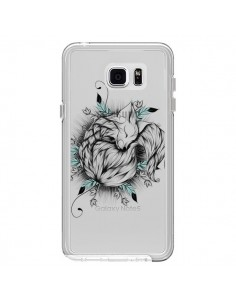 Coque Petit Renard Renardeau Transparente pour Samsung Galaxy Note 5 - LouJah