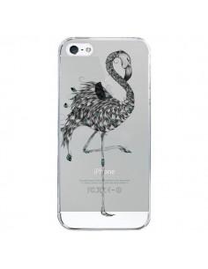 Coque Flamant Rose Poétique Transparente pour iPhone 5/5S et SE - LouJah