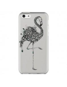 Coque iPhone 5C Flamant Rose Poétique Transparente - LouJah