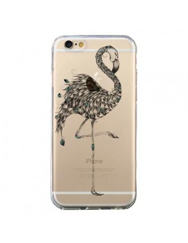 Coque Flamant Rose Poétique Transparente pour iPhone 6 et 6S - LouJah